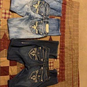 2pair of Rock Revival Jeans
